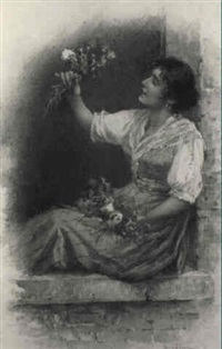 fresh picked flowers by vittorio tessari