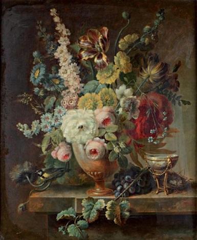 bouquet de fleurs dans un vase by cornelis van spaendonck. Black Bedroom Furniture Sets. Home Design Ideas