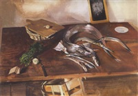 halas csendélet (still-life with fish) by tibor csernus