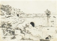 paysage aux tunnels by paul camille guigou
