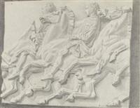 détail d'une fresque d'un palais de saint petersbourg by rostislav m. dobuzhinsky