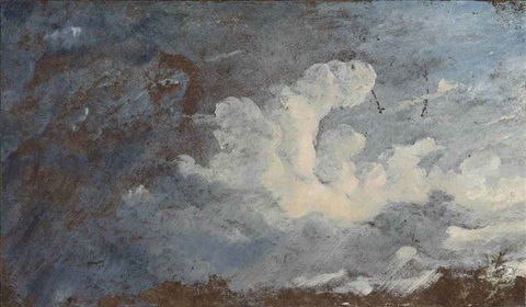 storm clouds over hampstead by john constable
