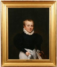 portrait of a boy with his dog by samuel lovett waldo