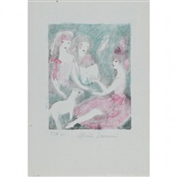 le concert. (la vie de château, pl. 1) by marie laurencin