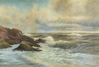 end of castle rock, marblehead by george howell gay