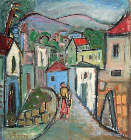 woman in safed by pinchas abramovich
