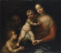 sacra famiglia con san giovannino by andrea celesti