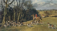 lord aylesford's covert, the quorn by john theodore eardley kenney