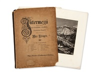 intermezzi with 12 etchings (portfolio of 12) by max klinger