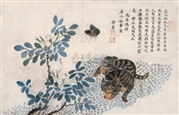 猫蝶图 (cat and butterfly) by liu hengfu