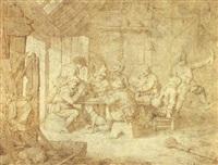 a scene of pheasant merrymaking by gerrit adriaensz de heer