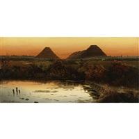 atardecer con pirámides by ignacio alcérreca y comonfort