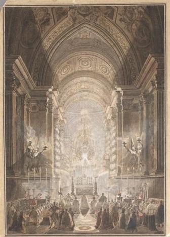 lexposition du saint sacrement dans la chapelle pauline au vatican by louis jean desprez
