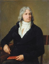 portrait de louis-françois bertin, dit bertin l'aîné; portrait de madame louis-françois bertin (pair) by francois-xavier fabre