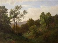 bewaldete landschaft by carl von der hellen