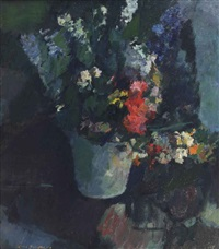 a still life with flowers by kees verwey