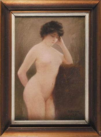 akt stojącej kobiety by casimir stabrovsky