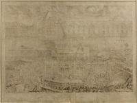 construction du pont-royal, édification des arches centrales vue de la rive gauche by lievin cruyl
