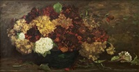 still life, study of flowers by william john hennessy