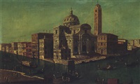 venice, a view of the church of san geremia and the palazzo labio at the entrance to the cannaregio by francesco albotti