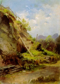 landschaft bei kössen by edward young