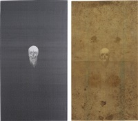 bearded carrion (diptych) by angelo filomeno