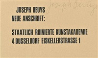 neue anschrift (new address) by joseph beuys