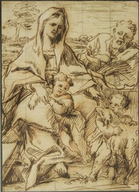 la sainte famille avec jean-baptiste by thomas blanchet