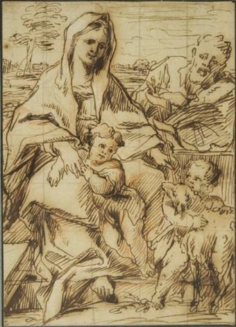 la sainte famille avec jean baptiste by thomas blanchet