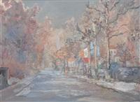 rue de banlieue by alexis guy korovin