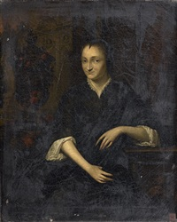 portrait de femme accoudée by elias van nymegen