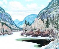 murray river, la malbaie by gordon edward pfeiffer