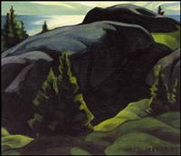 rocky shore, lake superior by george douglas pepper
