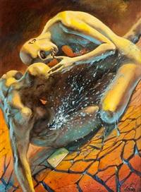 adam und eva, verbannte aus paradies by leon ariev