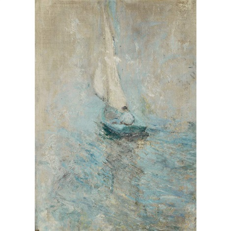 sailing in the mist by john henry twachtman