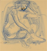 blue nude by moses soyer