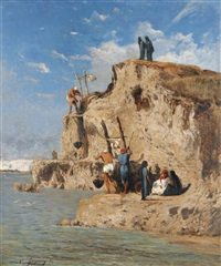 porteurs d'eau by victor pierre huguet