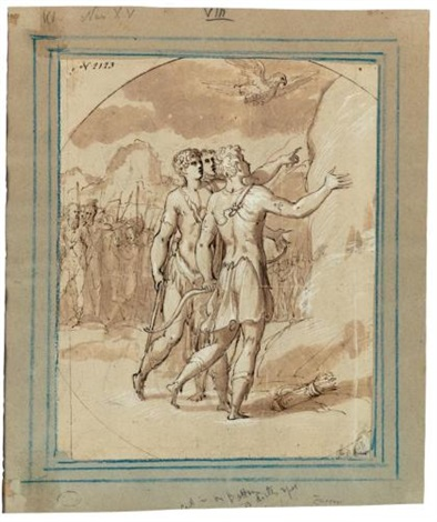 aeneas and achates encouraged by venus to go to carthage by giuseppe salviati porta