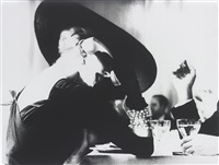 the v-back evenings, suzy parker, dress by trigère, new york, harper's bazaar by lillian bassman