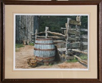 wooden pail and barrel by michael davidoff
