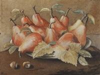stillleben mit birnen und haselnüssen by giovanna garzoni
