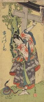 hosoban yakusha-e by ippitsusai buncho