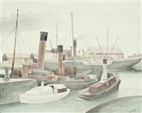 bristol docks by john northcote nash