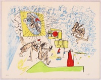 for gog magog, planche 4 by roberto matta