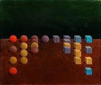 composition aux billes et aux cubes by masao haïjima