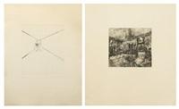 interior i; interior ii (2 works) by richard artschwager