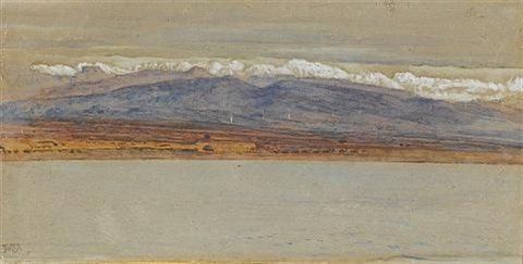 view of the taurus mountains from mersin turkey tarsus by william holman hunt
