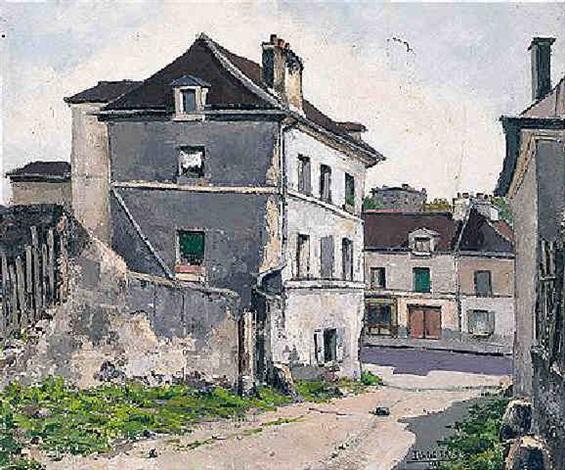 vieille maison rue de la butte de chapeau rouge st gervais by jean robert ithier