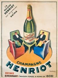 champagne heriot, reims. maison fondée en 1808 by roger de valerio