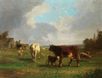 paysage aux vaches by andré cortes